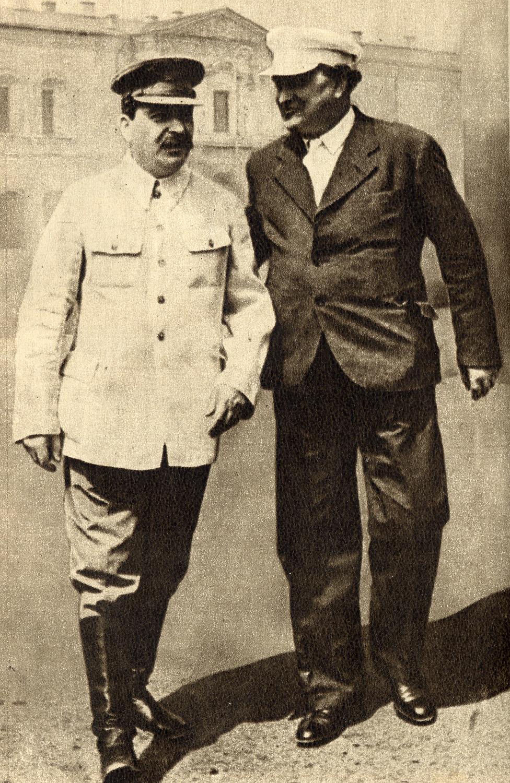 Stalin und Dimitrow (rechts) in Moskau (1936), Gemeinfrei