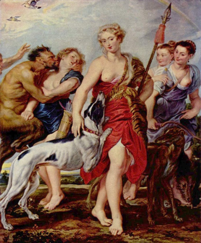 Artemis, die griechische Göttin der Jagd, des Mondes, der Gebärendenen und der Mütter und Kinder