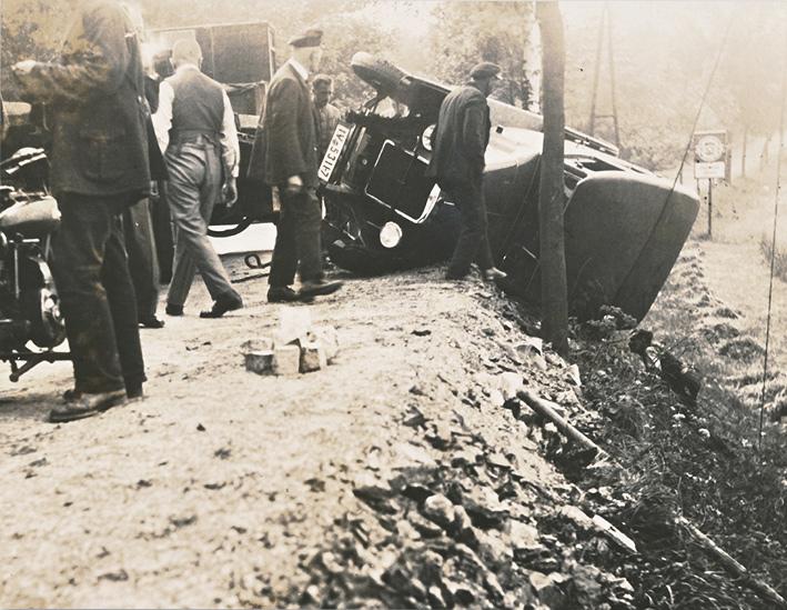 Wanderer Automobil Unfall