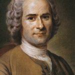 Porträt von Jean-Jacques Rousseau