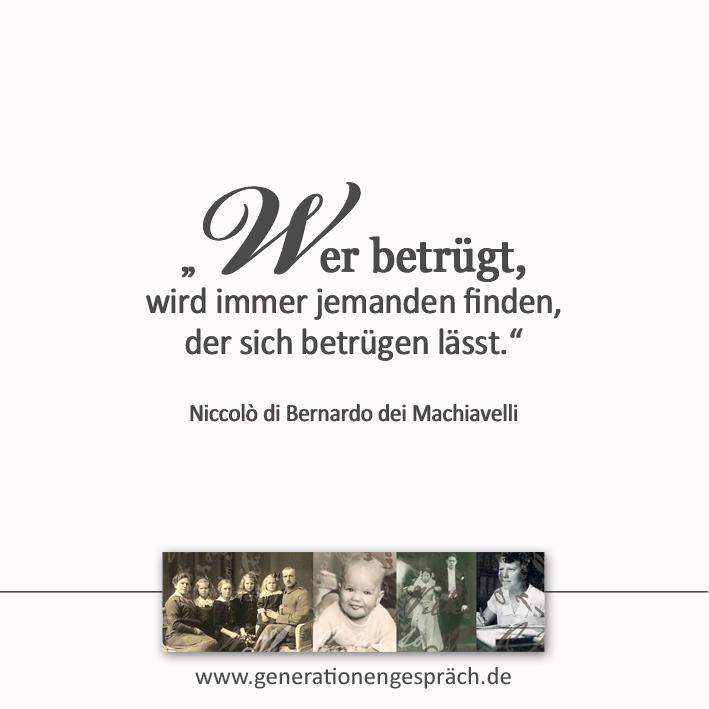 Warum wir betrogen werden wollen www.generationengespräch.de