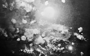 Aufnahme des Angriffs auf Pforzheim aus einem der Bomber, Royal Air Force official photographer