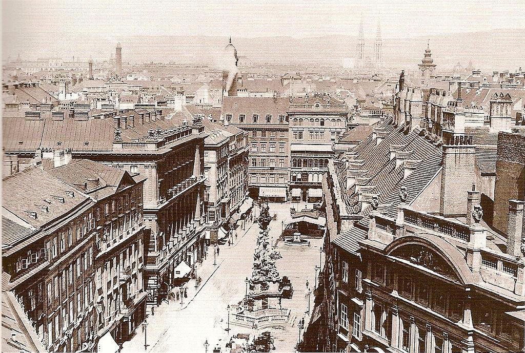 Der Wiener Graben, fotografiert von August Stauda um 1890