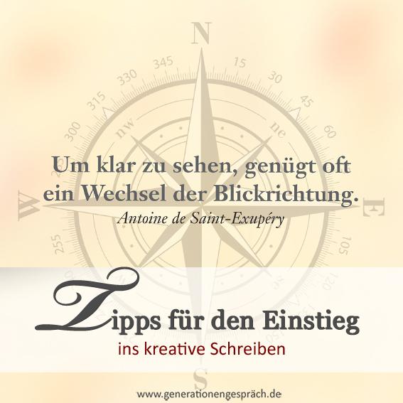 Durch kreatives Schreiben besser schreiben www.generationengespräch.de