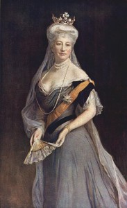 Auguste Viktoria, Deutsche Kaiserin, 1908, von Philip Alexius de László, gemeinfrei