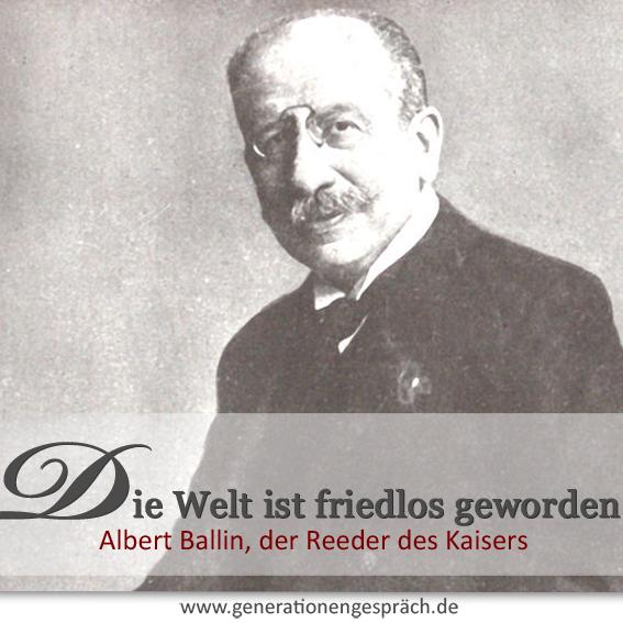 Albert Ballin - der Reeder des Kaisers www.generationengespräch.de