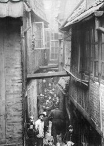Blick ins Gängeviertel in Hamburg, 1893, gemeinfrei