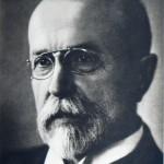 Der erste Präsident der Tschechoslowakei, Tomáš Garrigue Masaryk, 1918