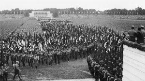 Aufmarschgelände Nürnberg, nationalsozialistischer Aufmarsch SA. Von Bundesarchiv