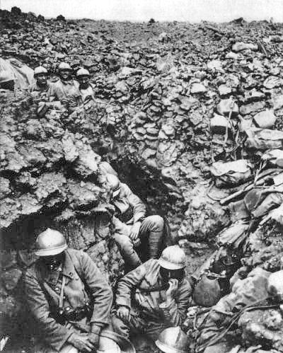 French 87th Regiment Cote 34 Verdun 1916, Public Domain