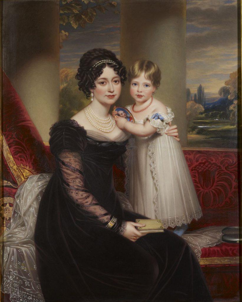 Victoire mit ihrer Tochter Victoria, Von Henry Bone, https://www.telegraph.co.uk/culture/donotmigrate/3560626/Queen-Victoria-the-original-peoples-princess.html, Gemeinfrei