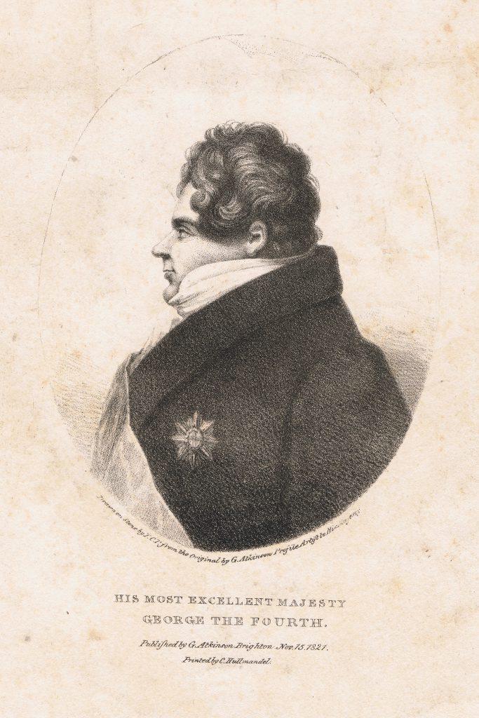 George IV von England Lithographie 1821