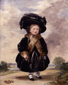 Prinzessin Victoria im Alter von vier Jahren, 1823, von Stephen Poyntz Denning (1795–1864) - Dulwich College Picture Gallery, Gemeinfrei,