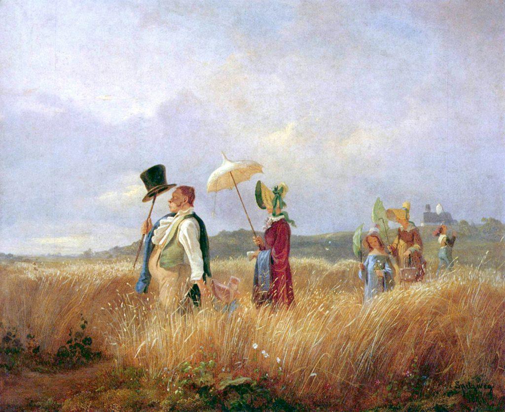 Der Sonntagsspaziergang, Carl Spitzweg, 1841, - The Yorck Project: 10.000 Meisterwerke der Malerei. Distributed by DIRECTMEDIA Publishing GmbH., Gemeinfrei