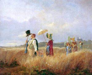 Der Sonntagsspaziergang, Carl Spitzweg, 1841