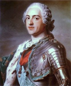 Porträt Ludwig, der 15. von Frankreich (1748)