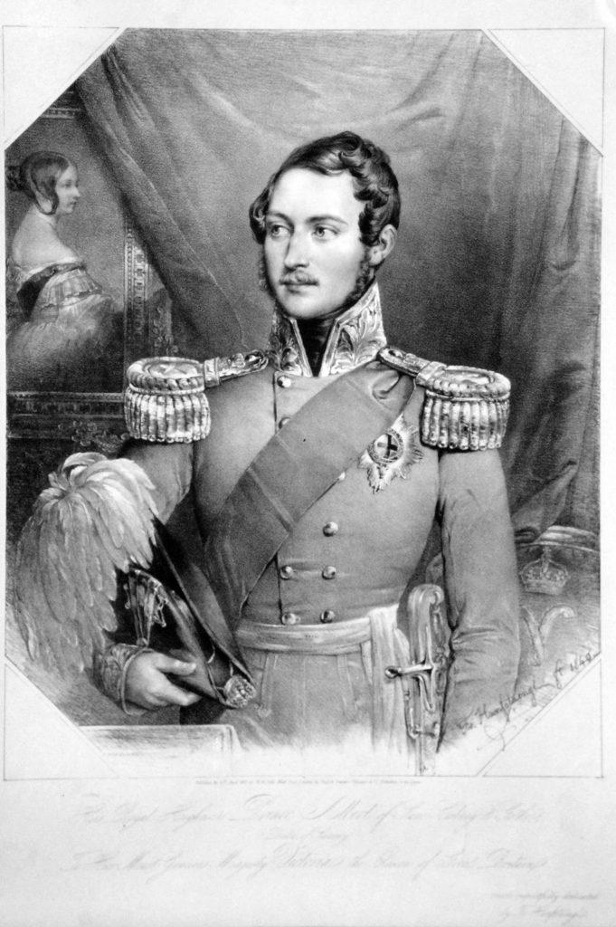 Albert von Sachsen-Coburg und Gotha, Lithographie von Franz Hanfstaengl, 1840