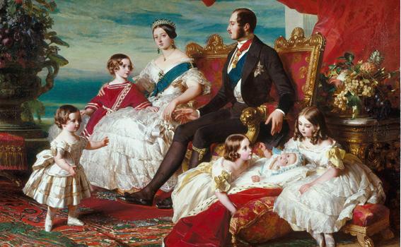 Victoria und Albert - Die königliche Familie, Gemälde von Franz Xaver Winterhalter, 1846
