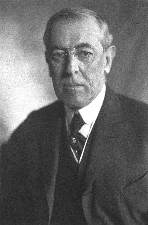 Thomas Woodrow Wilson Präsident der USA 1913 bis 1921