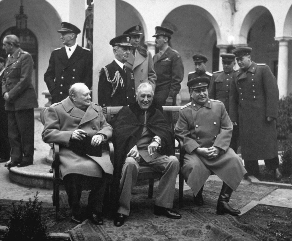 Die Konferenz von Jalta im Februar 1945: Churchill, Roosevelt und Stalin