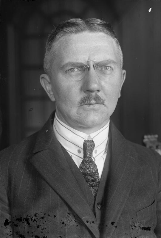 Hjalmar Schacht, Hitlers Reichsbankchef und Erfinder der Mefo-Wechsel