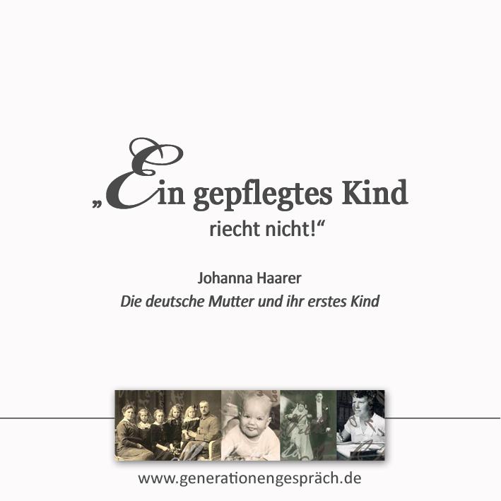 Erziehung im Nationalsozialismus - Ein gepflegtes Kind riecht nicht